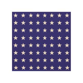 Tela De Madeira Repetindo as estrelas brancas no teste padrão azul