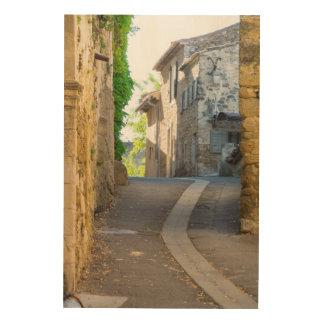 Tela De Madeira Rua estreita vazia, France