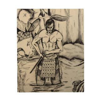 Tela De Madeira Samurai de Ronin