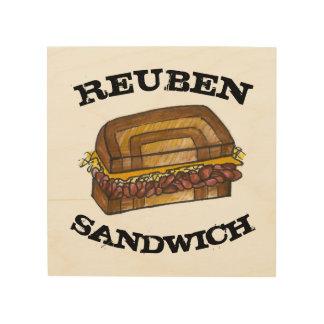 Tela De Madeira Sanduíche de Reuben no cozinhar judaico da comida