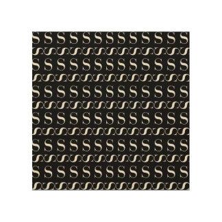 Tela De Madeira Teste padrão inicial do monograma, letra S no