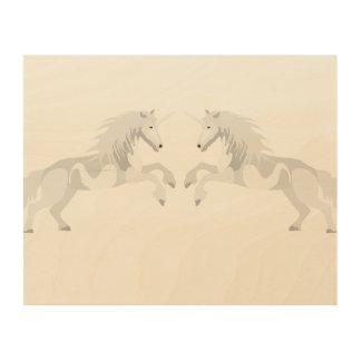 Tela De Madeira Unicórnio do branco da ilustração