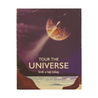 Tela De Madeira Visite o poster da ficção científica do vintage do