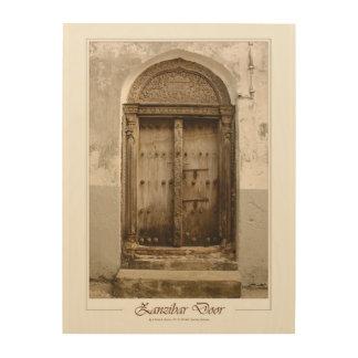 Tela De Madeira Zanzibar cinzelou a porta