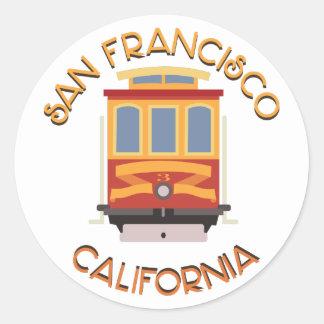 Teleférico de San Francisco Adesivo Redondo