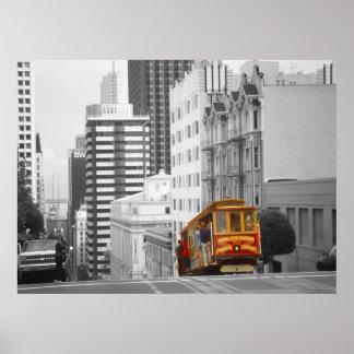 Teleférico de San Francisco - arte da foto do Pôster