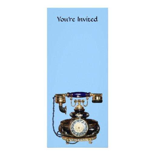 Telefone antigo convite personalizados