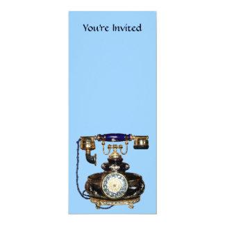 Telefone antigo convite 10.16 x 23.49cm