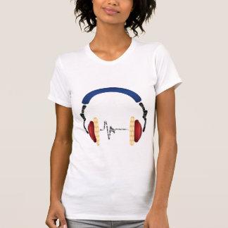 Telefone da cabeça do fascínio da música camisetas
