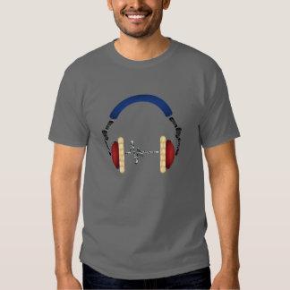 Telefone da cabeça do fascínio da música t-shirts
