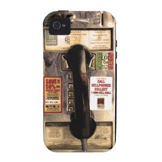 Telefone de pagamento velho engraçado capa para iPhone 4/4S