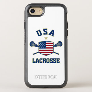 Telefone do Lacrosse dos EUA Capa Para iPhone 7 OtterBox Symmetry