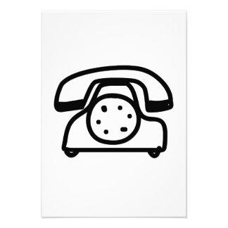 Telefone do vintage dos desenhos animados convites