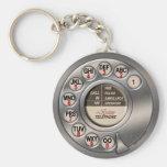 Telefone giratório do vintage chaveiro