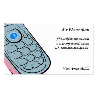 Telefone móvel cartão de visita