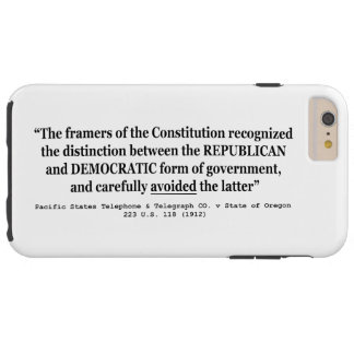 Telefone pacífico Co v Oregon 223 E.U. 118 (1912) Capas iPhone 6 Plus Tough