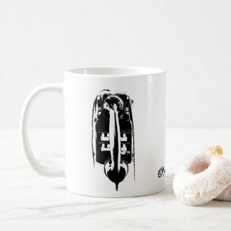 Telefone retro preto & branco - caneca do café