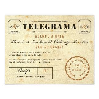 Telegrama do Vintage Agende a Data Convite 10.79 X 13.97cm