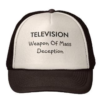 Televisão e chapéu da decepção boné
