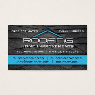 Telhando o azul profissional do cartão de visita