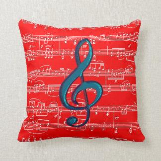 tema azul vermelho da música travesseiros de decoração
