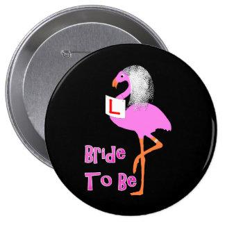 Tema cor-de-rosa bonito do partido de galinha de bóton redondo 10.16cm