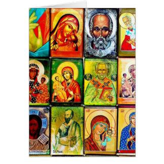 Tema cristão Notecard religioso Cartões