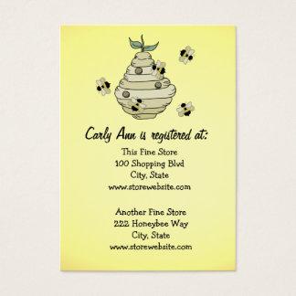 Tema da abelha do cartão do registro do chá de