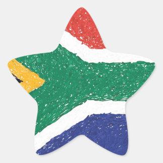 Tema da bandeira de África do Sul Adesito Estrela