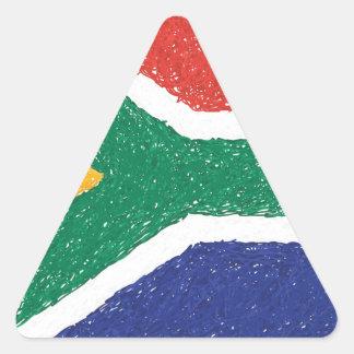 Tema da bandeira de África do Sul Adesivo Triangular