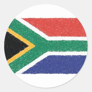 Tema da bandeira de África do Sul Adesivo