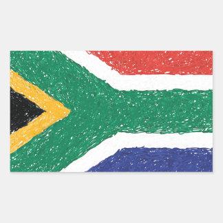 Tema da bandeira de África do Sul Adesivo Retangular