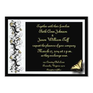 Tema da borboleta convite 12.7 x 17.78cm