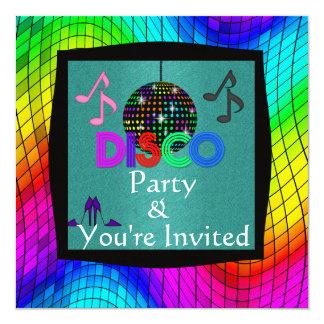 Tema da dança do disco todo o convite das ocasiões