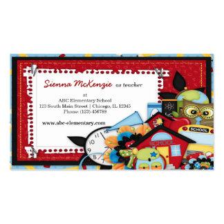 Tema da escola cartão de visita