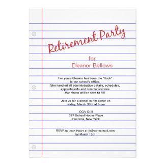 Tema da escola do partido de aposentadoria convites