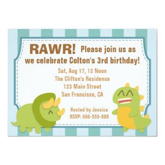 Tema da festa de aniversário - dinossauros bonitos
