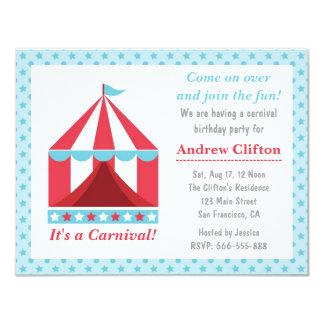 Tema da festa de aniversário do carnaval do convite personalizado