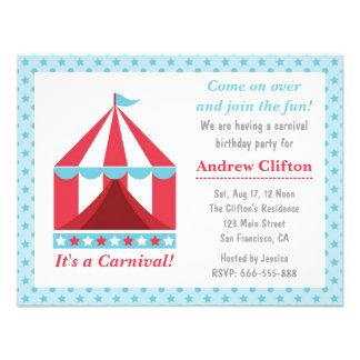 Tema da festa de aniversário do carnaval do quinta convite personalizado