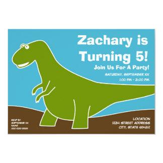 Tema da festa de aniversário do dinossauro convite 12.7 x 17.78cm