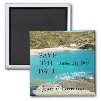Tema da praia que Wedding 2 - imã salve a data 2
