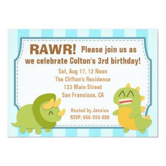 Tema do aniversário - dinossauros bonitos convite 11.30 x 15.87cm