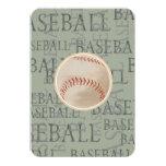 Tema do basebol do cartão de Mitzvah RSVP do Convite 8.89 X 12.7cm