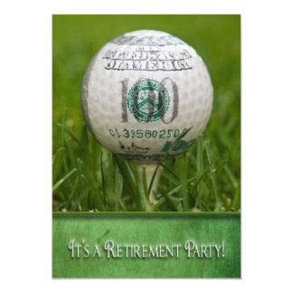 Tema do golfe do partido de aposentadoria convite