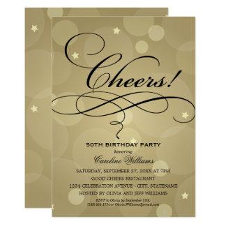 Tema do ouro dos convites de festas de