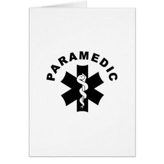 Tema do paramédico cartão