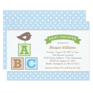 Tema dos blocos do alfabeto do convite | ABC do