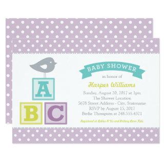Tema dos blocos do alfabeto do convite   ABC do