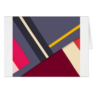 Tema geométrico cartão comemorativo