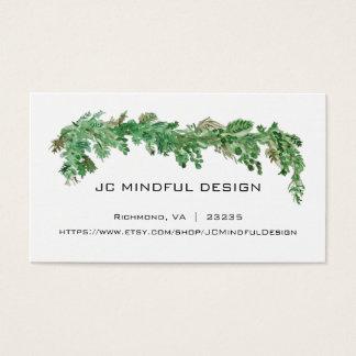 Tema mínimo das hortaliças do cartão de visita
